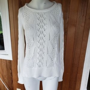 Gap Cable Knit Pullover White Sweater